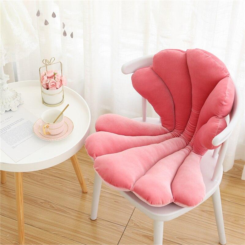 Luxus Samt Shell gefüllte Stuhl Sitzkissen Kunst stil Shell Zurück Kissen Blau Rose Prinzessin Meer shell Hause Kissen Decor