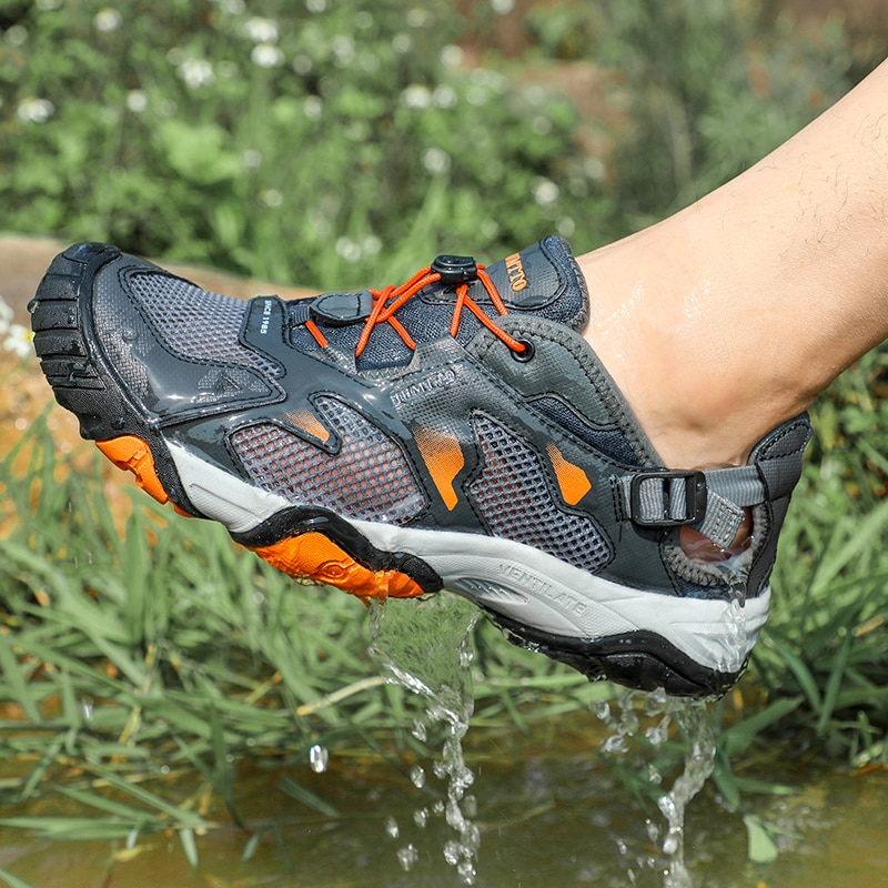 humtto summer men sandals 2021 breathable beach sandals for men's outdoor water mens hiking camping fishing climbing aqua shoes HUMTTO Brand Hiking Boots for Men Sneakers New Summer Trekking Sandals Male Breathable Outdoor Walking Climbing Water Shoes Mens