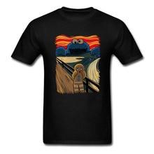 Camiseta delgada de la familia de los hombres Monster Tops con las camisetas de galleta Muncher hombres diseño Original camisas de alta calidad