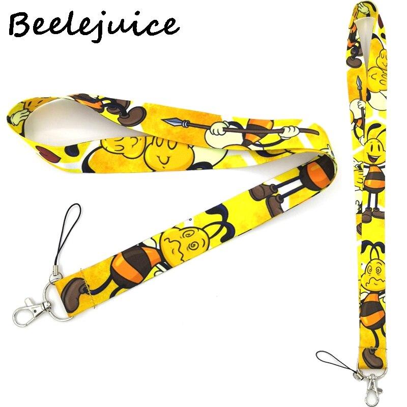 Abelha animal pescoço cinta cordão chaveiro do telefone móvel pulseira id crachá titular corda chaveiro chaveiro cosplay acessórios presentes