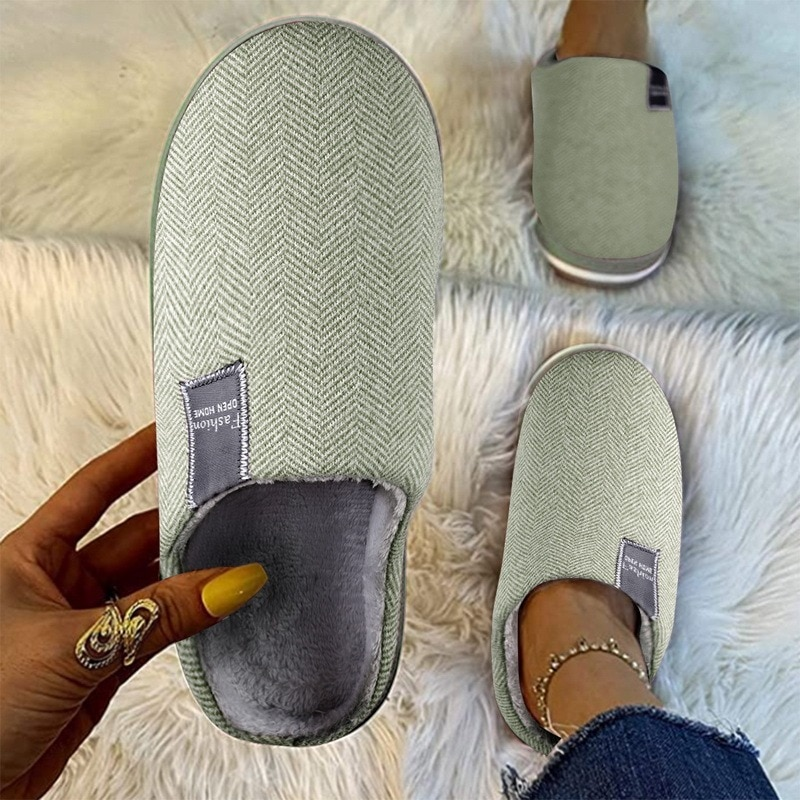 Men Slippers Memory Foam Slippers Men Home 2021 Winter Non Slip Male House Shoes Stripe Unisex Casual Indoor Shoes Plus Size