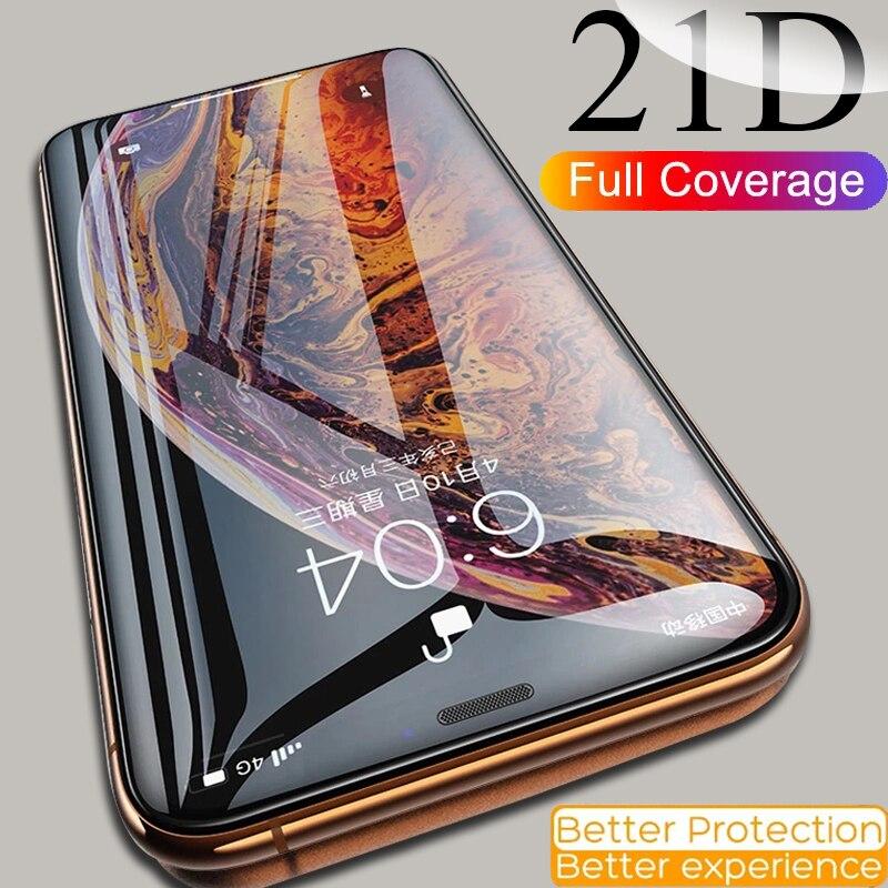 מזג זכוכית עבור iPhone 11 פרו מקסימום מסך מגן 11Pro מקסימום עבור iphone 12 פרו מקס זכוכית מיני 6 6S 8 7 בתוספת X Xs Max Xr 8 בתוספת