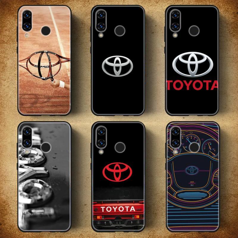 Toyota-Caja Del Teléfono Para Huawei P20 30 40 Pro Mate 20 30...