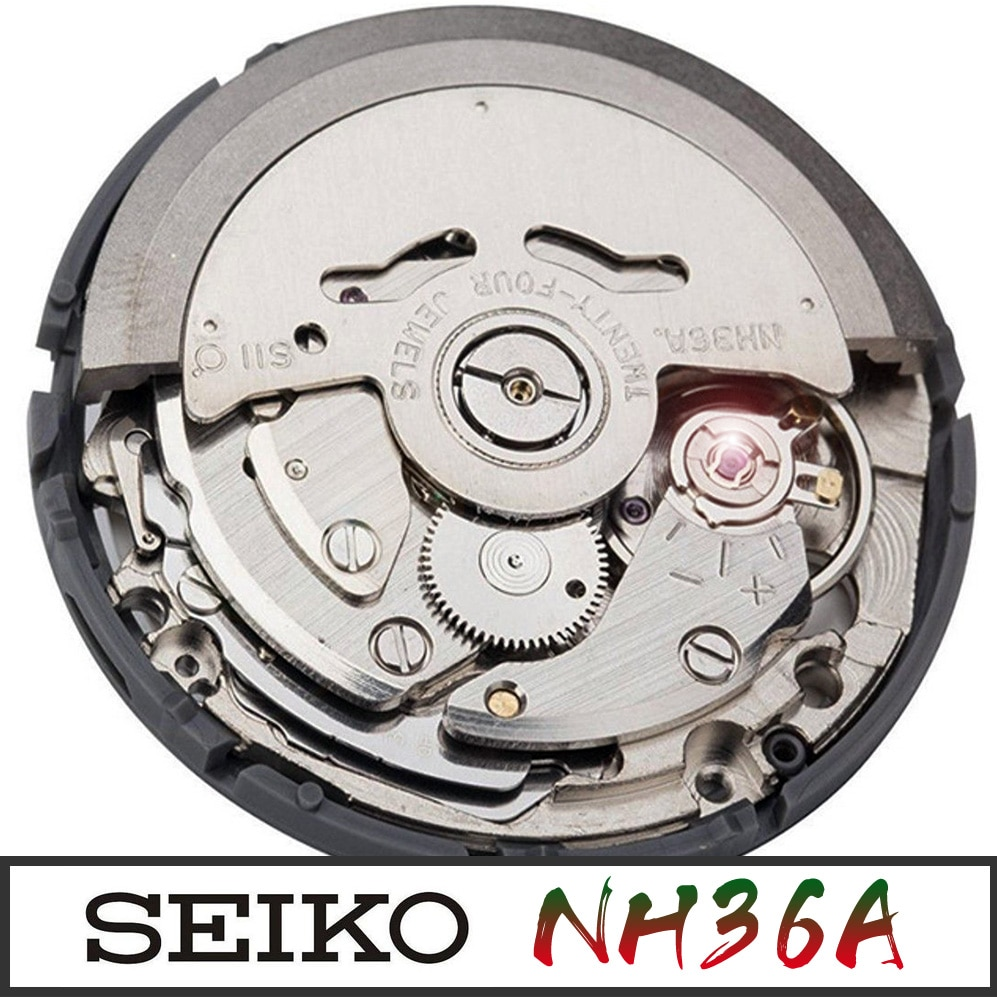 Genuine SEIKO 4R36 NH36 Automatic Watch Movement Mens Parts For Wrist Watch Day White Date Wheel enlarge