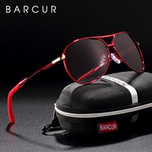 BARCUR Latest Gradient Women Sunglasses Polarized Sun glasses Pilot Female gafas oculos de sol masculino