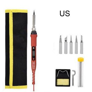 Electric Soldering Iron 80W LCD Digital Display Adjustable Temperature Soldering Iron Tips Welding Solder Tools