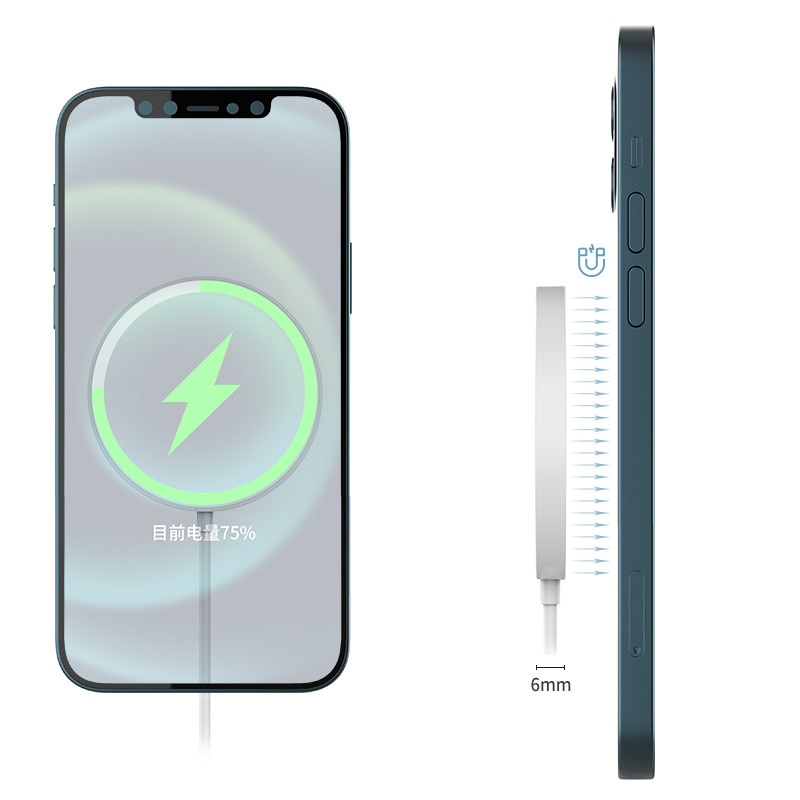 1PC Wireless Charger USB-C 15W Magnetic Wireless Charger Portable Wireless Quick Charging Dock For Xiaomi iPhone Series enlarge
