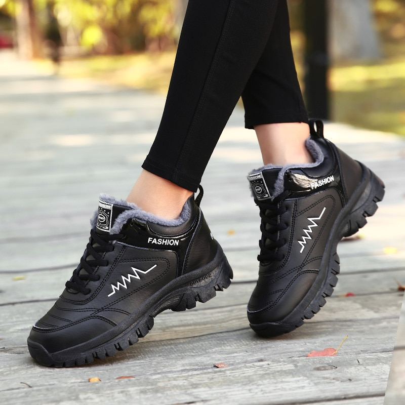 Women Winter Boots Warm Waterproof Snow Boots Quality Flats Shoes Sneakers New Outdoor Lady Women Wi