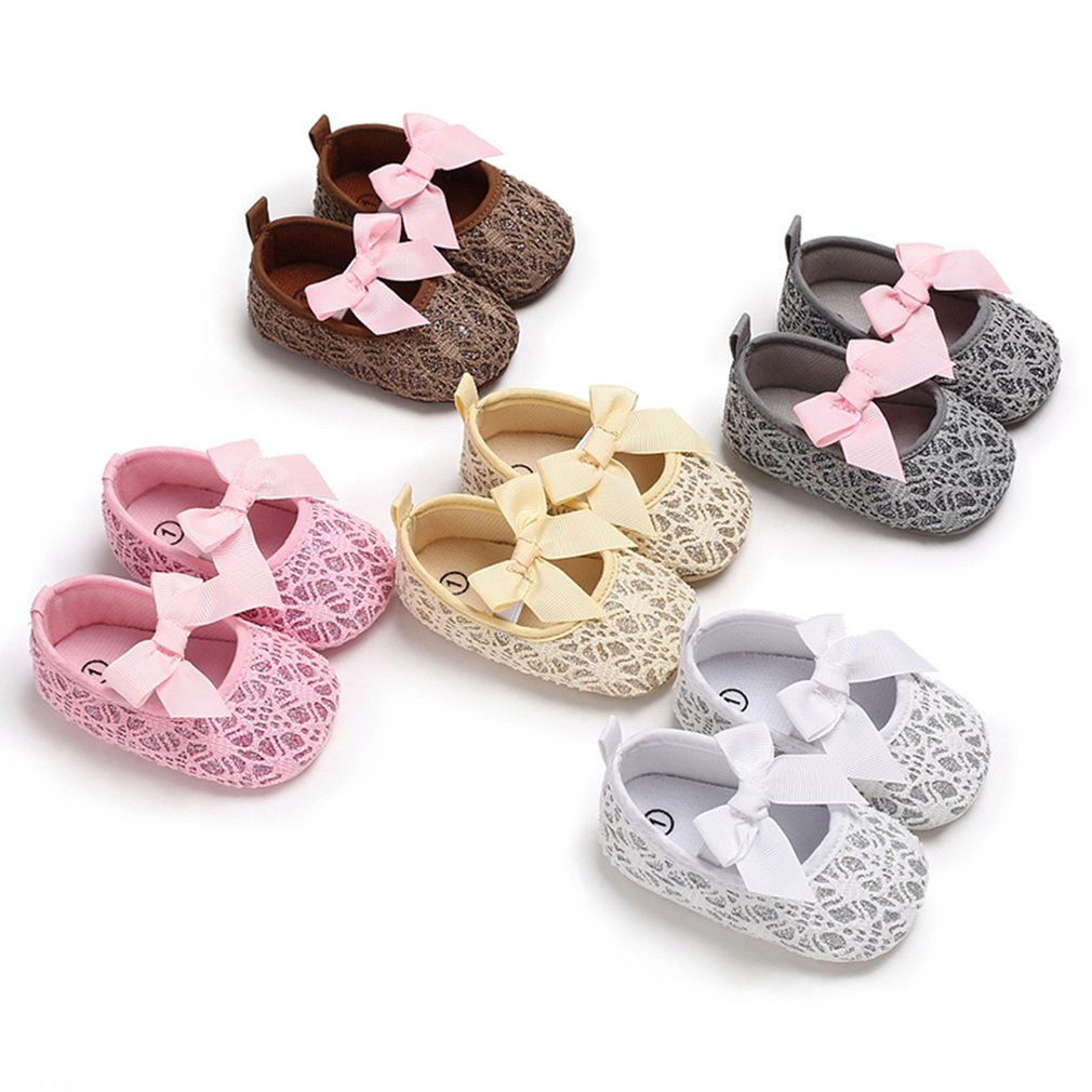 OUTAD Newborn Baby Girl Shoes Fashion Baby Moccasins Lace Bowknot Decor Soft Bottom Soled Non-slip C