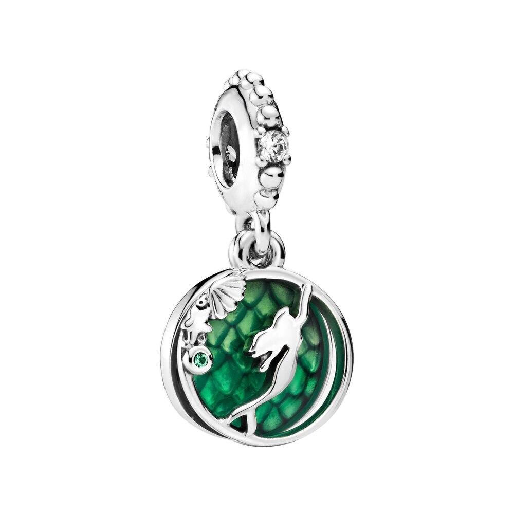 2019 novo original 925 prata esterlina grânulo luminoso ariel balançar charme caber pandora pulseira colar jóias das mulheres diy