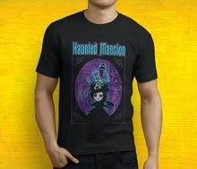 New Popular  Haunted Mansion Poster Mens Black T-Shirt S-3XL