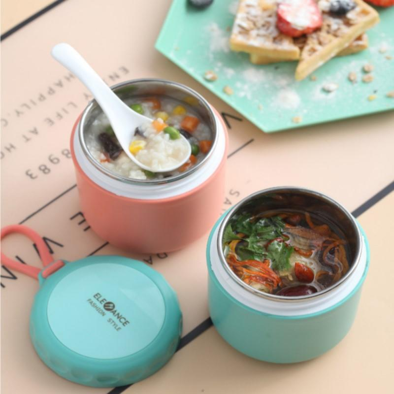 1pcs 304 Stainless Steel Food Thermal Jar Insulated Soup Thermos Containers Stainless Steel Lunch Box Drinking Cup Lunch Box