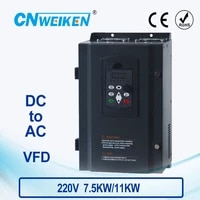 wk310 vector control frequency converter dc 200v 400v to three phase 220v 7 5kw11kw solar pump inverter with mppt control