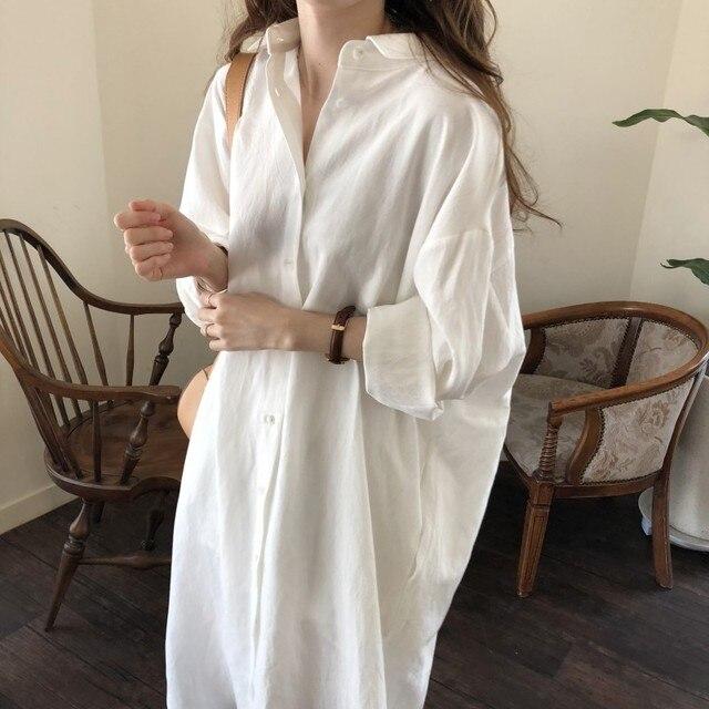S-2XL размера плюс, летнее платье-рубашка, розовое вечернее платье-кафтан, винтажное платье, вечерние, большие размеры, длинные пляжные женские платья, платье Макси|Женская одежда|| | АлиЭкспресс