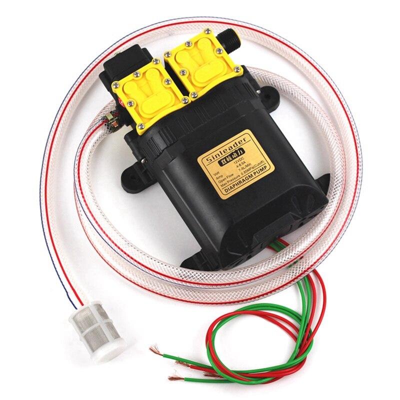 العملية 12V مزدوجة النواة الكهربائية البخاخ المحرك رئيس ، البخاخ أجزاء مضخة رئيس 12V ثنائي النواة الطاقة مضخة ، الزراعية الكهربائية S