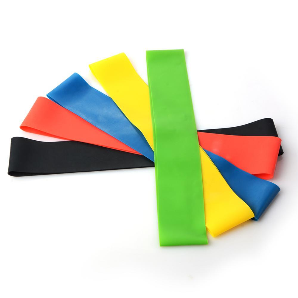 5 cores resistência yoga bandas de borracha ao ar livre indoor equipamentos de fitness pilates esporte treinamento treino bandas elásticas venda quente