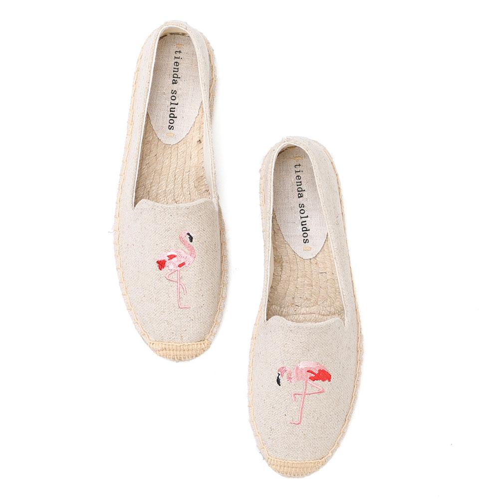 tienda soludos Espadrilles Shoes Woman Espadrille New Fashion Ballet Walking Ladies Flats Slip Fringe Sewing Canvas Patchwork