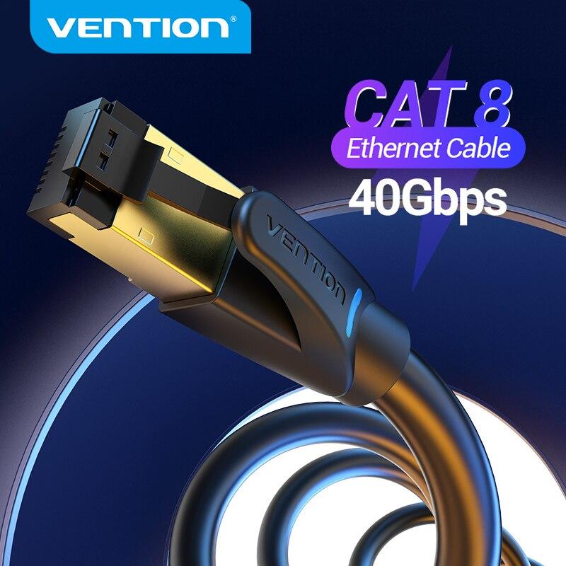 Cable Ethernet Vention, Cable Lan RJ45 Cat8 SFTP de 40Gbps, 2000MHz, Cable...
