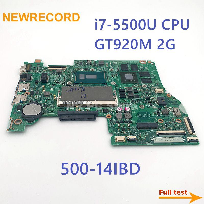 NEWRECORD ل 448.03N03.001M لينوفو FLEX3-1470 اليوغا 500-14IBD دفتر اللوحة i7-5500U CPU GT920M 2G DDR3