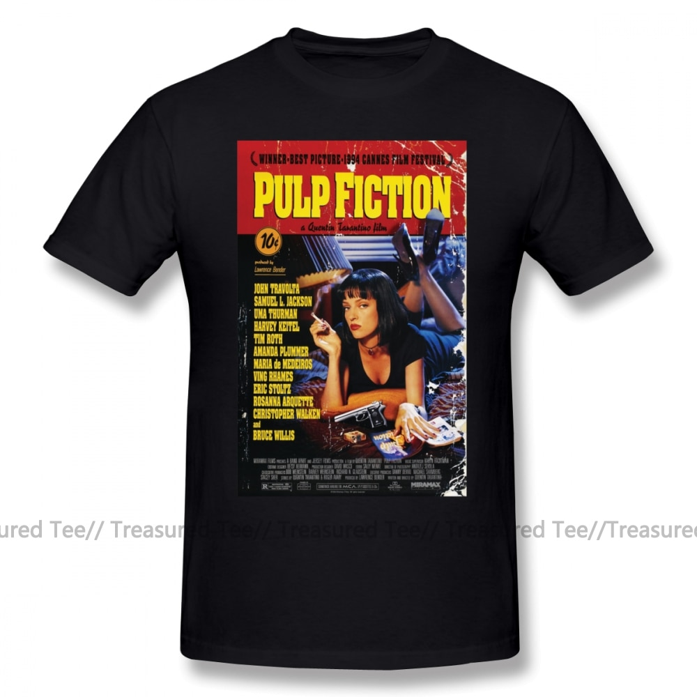 Camiseta de Pulp Fiction, camiseta de Pulp Fiction, camiseta de manga corta 100 de algodón, divertida camiseta gráfica de calle para hombre