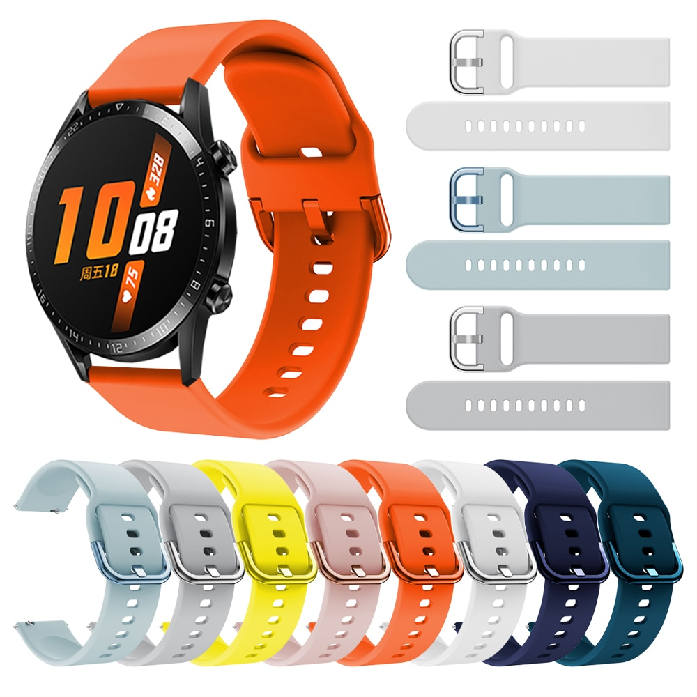 Sport Silicone Strap for HUAWEI WATCH GT2 GT 2 46mm 42mm Wrist Band for HONOR Magic Watch 2 46mm 42mm Bracelet Watchband silicone leather watchband for huawei watch gt gt2 46 honor magic 2 46mm watch band wrist strap bracelet belt for ticwatch pro