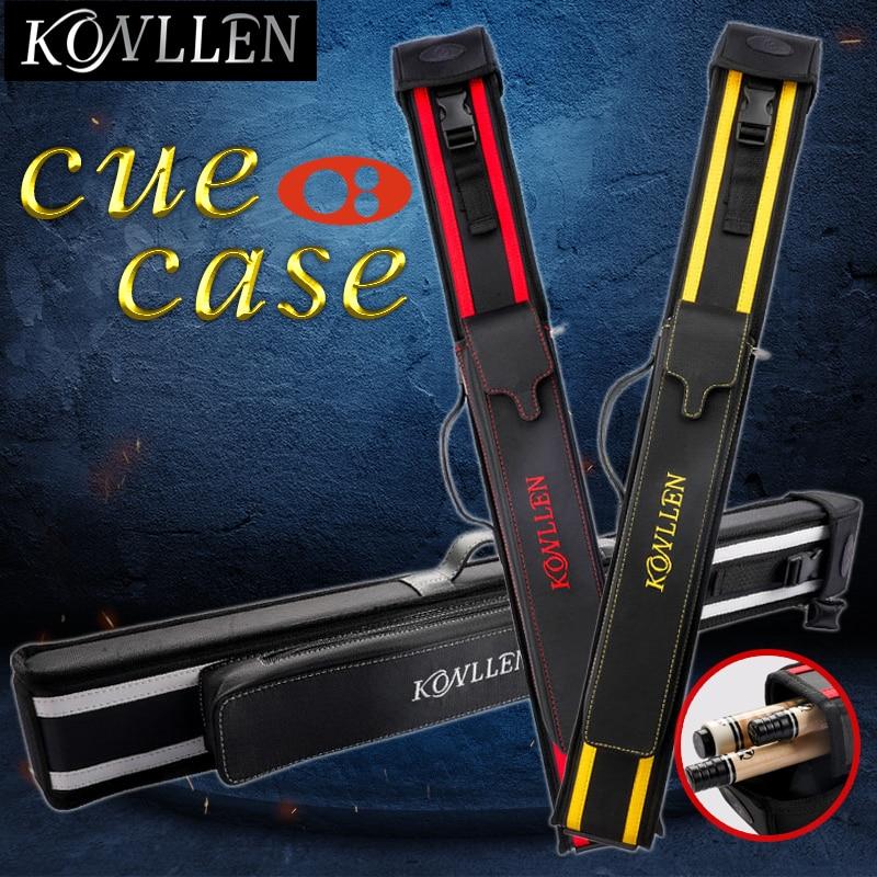 KONLLEN Billiard Cue Case 3 Holes 1 Butt 2 Shafts 82x10cm Pool Cue Case Bag 82cm Length 4 Colors  Billiards Accessories