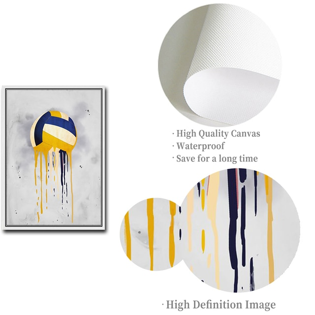 Football Basketball Volleyball Bowling Tennis Sports Series Canvas Painting Wall Art Pictures Boys Kids Room Home Decor Posters 8