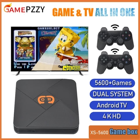Newest Video Game Console With Wireless Controllers TV Retro Game Console Built-in 50 Emulators 6000+ Games For PS1/N64/DC