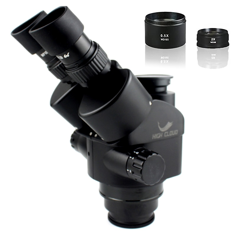3.5X-90X سيمول البؤري ثلاثي العينيات مجهر التكبير مجهر ستيريو رئيس 0.5x 2.0x مساعدة الهدف عدسة الكاميرا محول