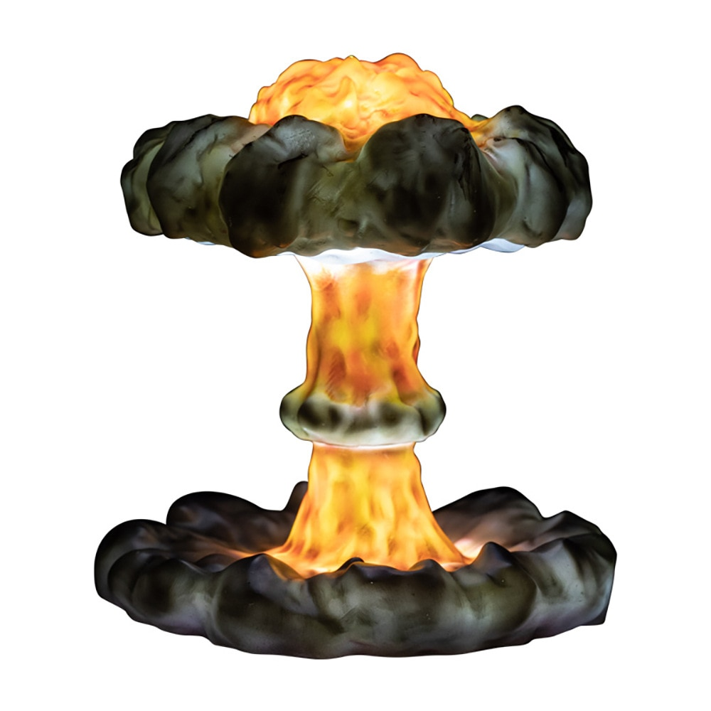Upgrade DIY Simulated Explosion Mushroom Cloud Led Dimming Children's Night Light Creative Gift 3D Table Lamp for Bedroom Decor