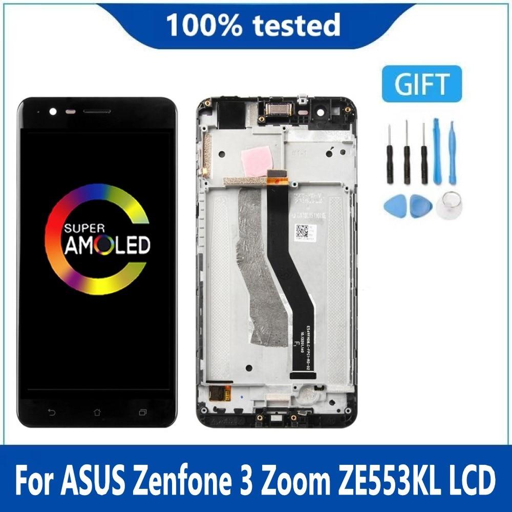 شاشة أصلية لـ ASUS Zenfone 3 Zoom ZE553KL Z01HDA شاشة LCD تعمل باللمس محول رقمي Amoled 5.5