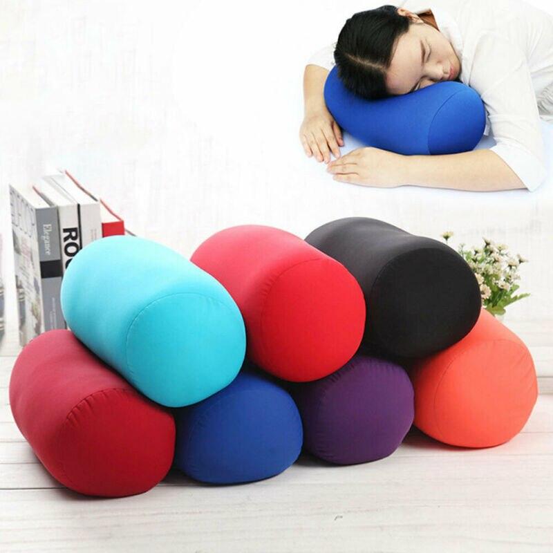 31x17 cm Micro Mini Microbead cojín trasero rollo almohada viaje casa dormir cuello apoyo cómodo hogar textil