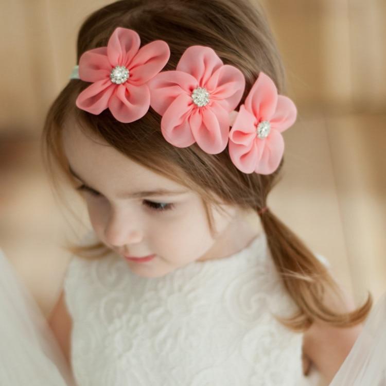1PC europejskie i amerykańskie dzieci kwiat seria dziecięca dziewczyny opaski do włosów eleganckie opaski do włosów elastyczne gumki do włosów akcesoria do włosów