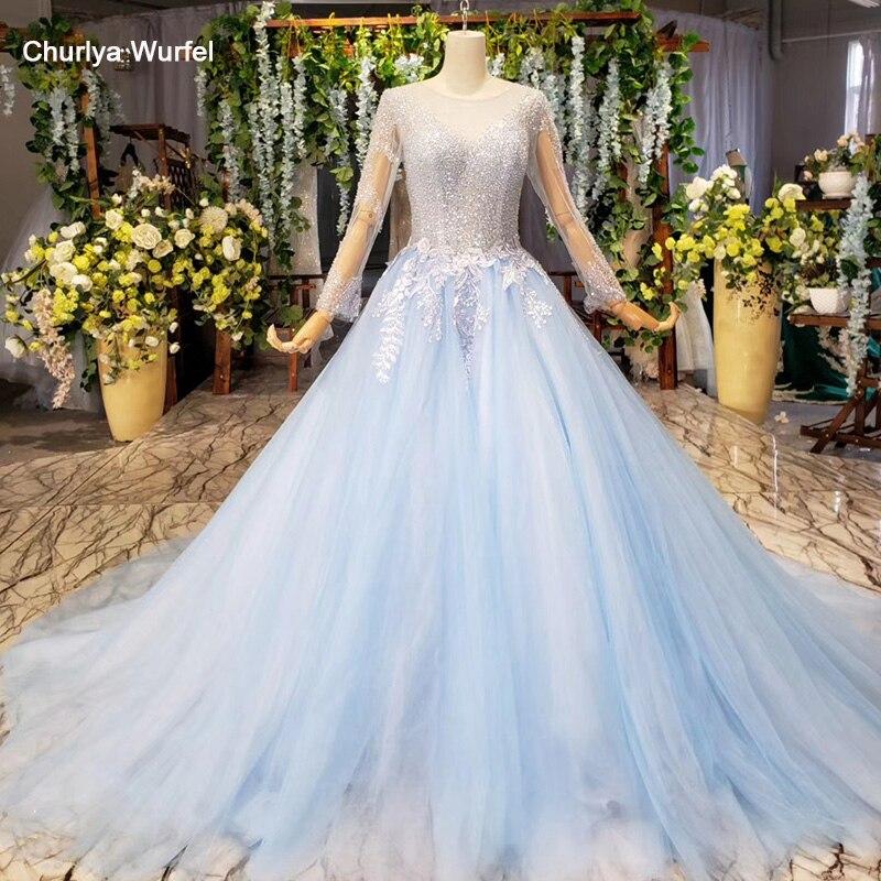 HTL1153 Дешевое вечернее платье из Китая с длинным рукавом и круглым вырезом, простое платье для свадьбы, вечерние женские платья, robe soiree