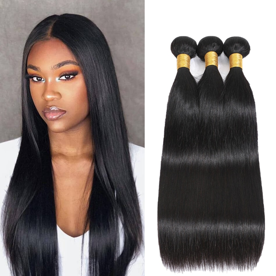 linlin indian human hair afro kinky curly hair 3 bundles weave extension hair bundles hair rollers wigs can dyed Deepin Brazilian Human Hair Weave Bundles Straight Hair Bundles Non-Remy Natural Color Hair Extension