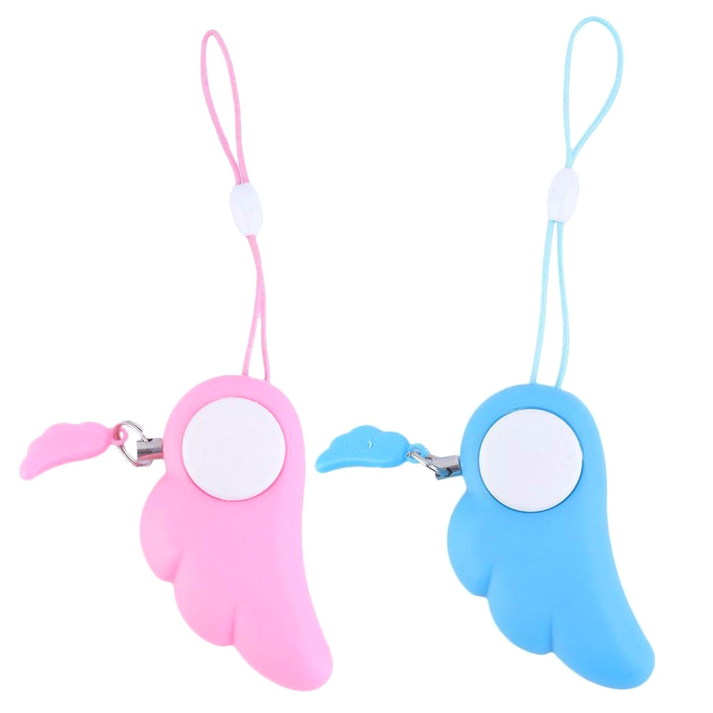 1Pc Self Defense Alarm Safe Keychain Personal Handy Alarm Kids Girls Light 90dB Sound Protect Anti-Robbing Emergency Attack