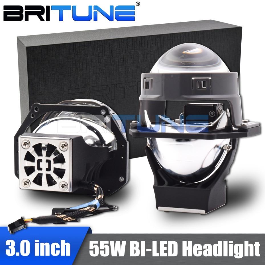 Bi-led Lens 3.0 Hella 3R G5 LED Projector Headlight Lenses Dual Reflector Diode Chips Car Lights Accessories Retrofit 55W Kits