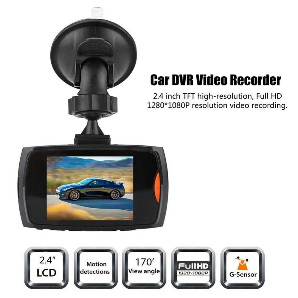G30 portátil 2.4 polegada lcd 720 p resolução gravador de vídeo da câmera do carro gravador condução