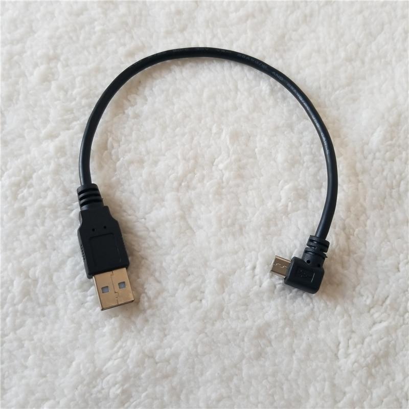 Micro B USB 90 grados ángulo izquierdo macho A USB 2,0 tipo...