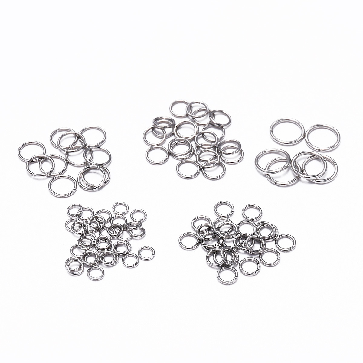 100-200pcs 3/4/5/6/7/8/10/12/14/15mm Stainless Steel Open Jump Rings & Split Ring for DIY Jewelry Findings Making Accessories 1 box 4 5 6 7 8 10mm jewelry findings open jump split rings connector for diy jewelry findings making rhodium gold silver color
