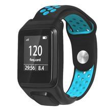 W celu uzyskania oddychająca bransoletka pasek do zegarka silikonowa opaska na nadgarstek dla Tomtom Runner 3/Adventurer/golfista 2/Runner 2 Cardio/ spark 3