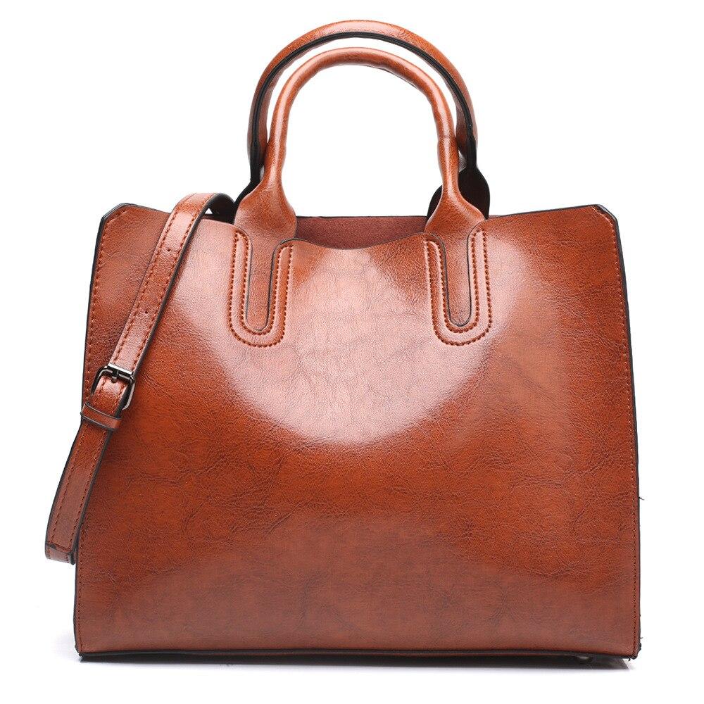 Realer women handbag leather crossbody shoulder bag for ladies 2020 with top-handle women bag large capacity fashion bag