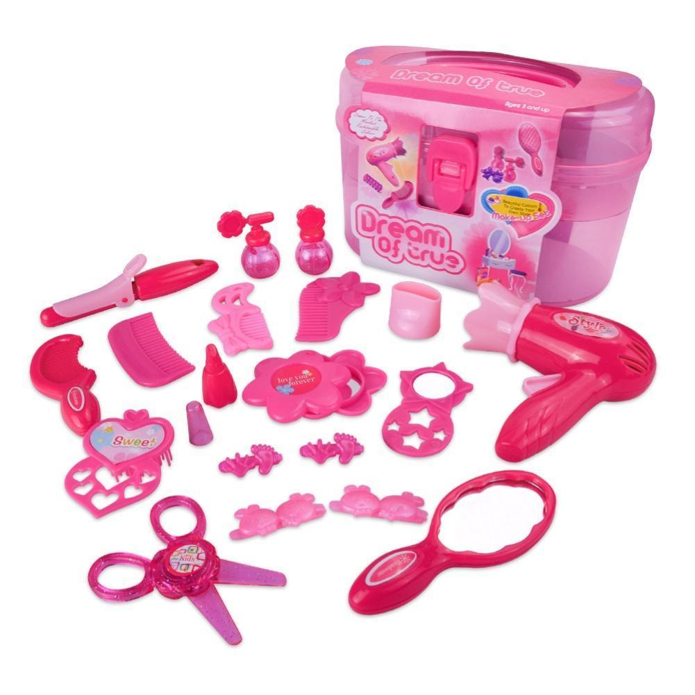 15 шт. девушка мини моделирование макияж аксессуар для волос модели комплект Детские ролевые игры игрушка