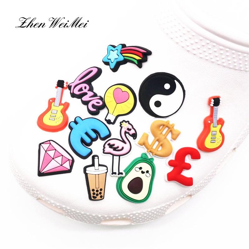 AliExpress - Shoe Accessories Shoe Charms Accessories Diamond Flamingo Milk Tea Shoe Buckle Decoration for Croc Jibz Kids Xmas Party Gifts