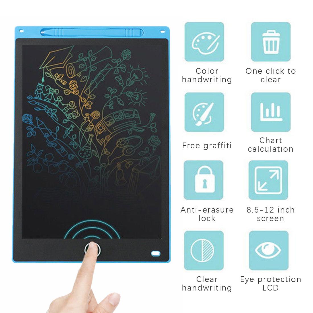 Placa de escrita de 8.5 polegadas lcd placa de desenho digital placa de escrita com caneta portátil tablet eletrônico ultra-fino para crianças gif