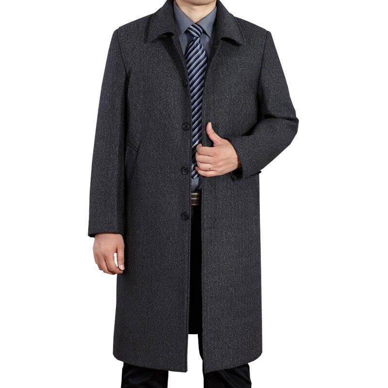 موضة الرجال خندق معطف الرجال رمادي طويل معطف الشتاء كول العلامة التجارية الشهيرة الرجال معطف الرجال خندق معطف سترة واقية الرجال