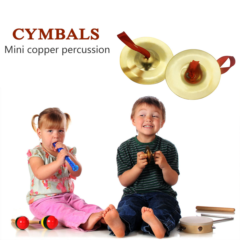2pcs Indian Brass Mini Finger Cymbals for Belly Dancing Musical Instrument Middle Cymbals Props Percussion Music Instrument