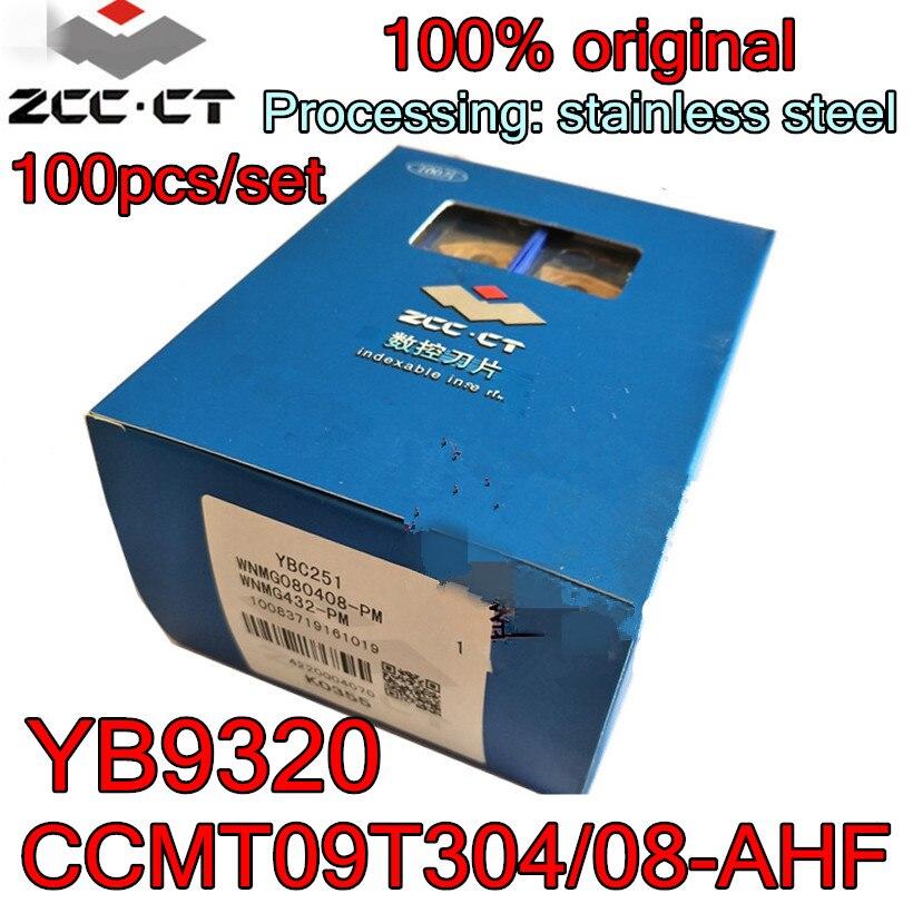 CCMT09T304-AHF CCMT09T308-AHF yb9320 100 pces 100% original zcc. ct carboneto de inserção processamento aço inoxidável