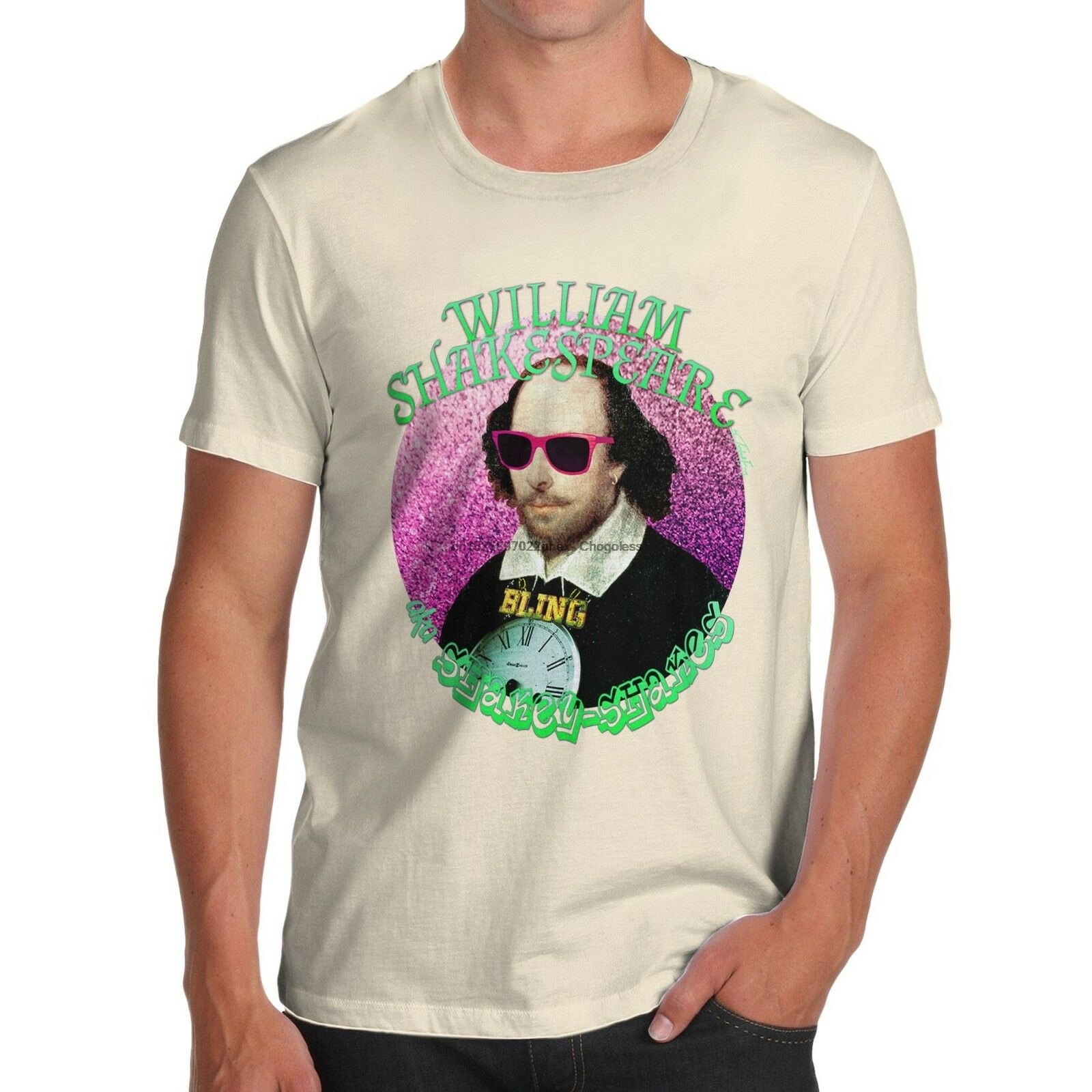 Männer der William Shakespeare Aka Shakey-Shakes Lustige T-Shirt