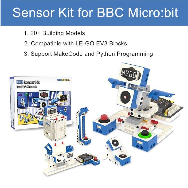 Yahboom العالم من وحدة برمجة روبوت مجموعة أجهزة استشعار مع 300 + اللبنات ل بي بي سي مايكرو: بت V2/V1.5 مجلس للأطفال الهدايا